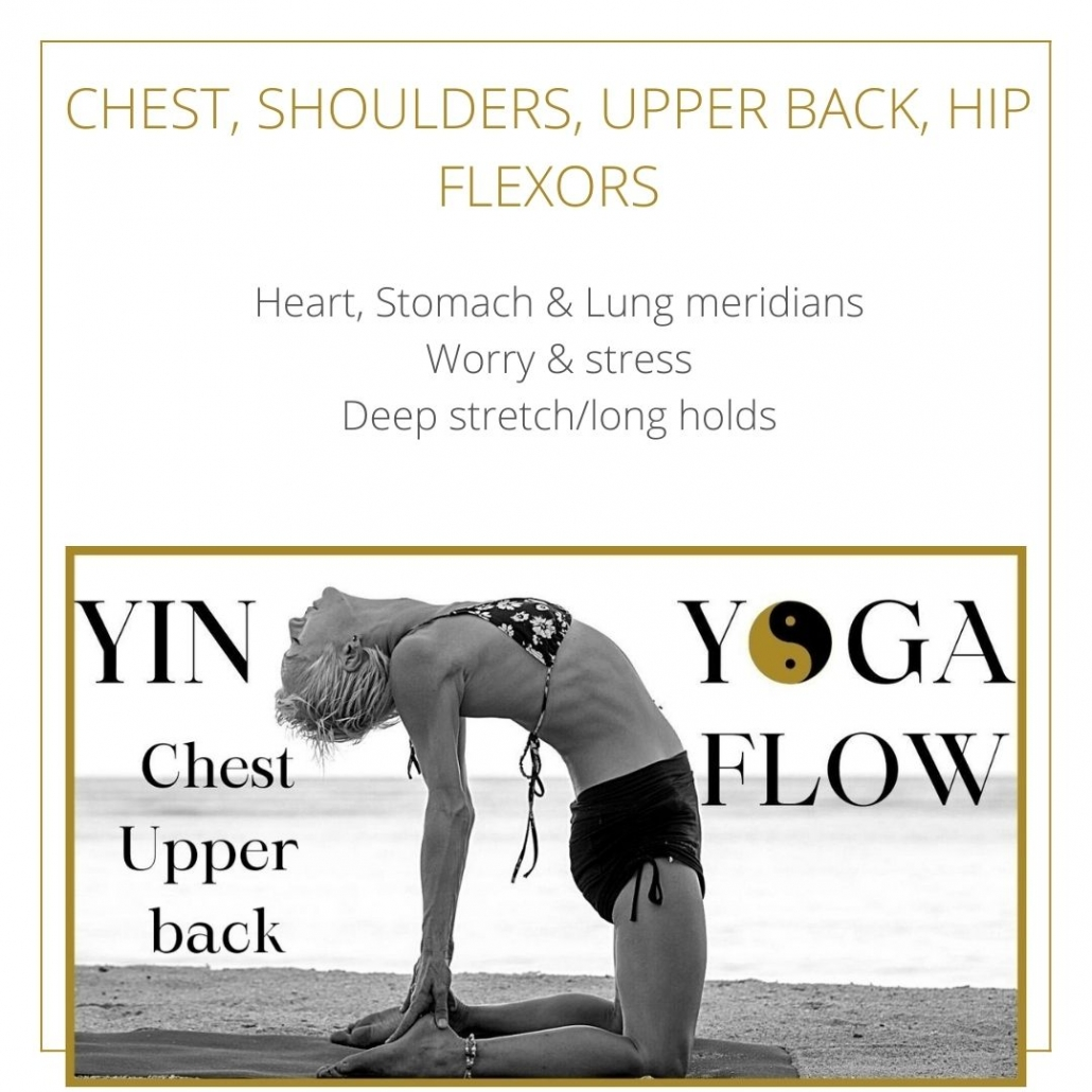 A YIN YOGA CLASS FOR THE CHEST SHOULDERS RELEASE STRESS
