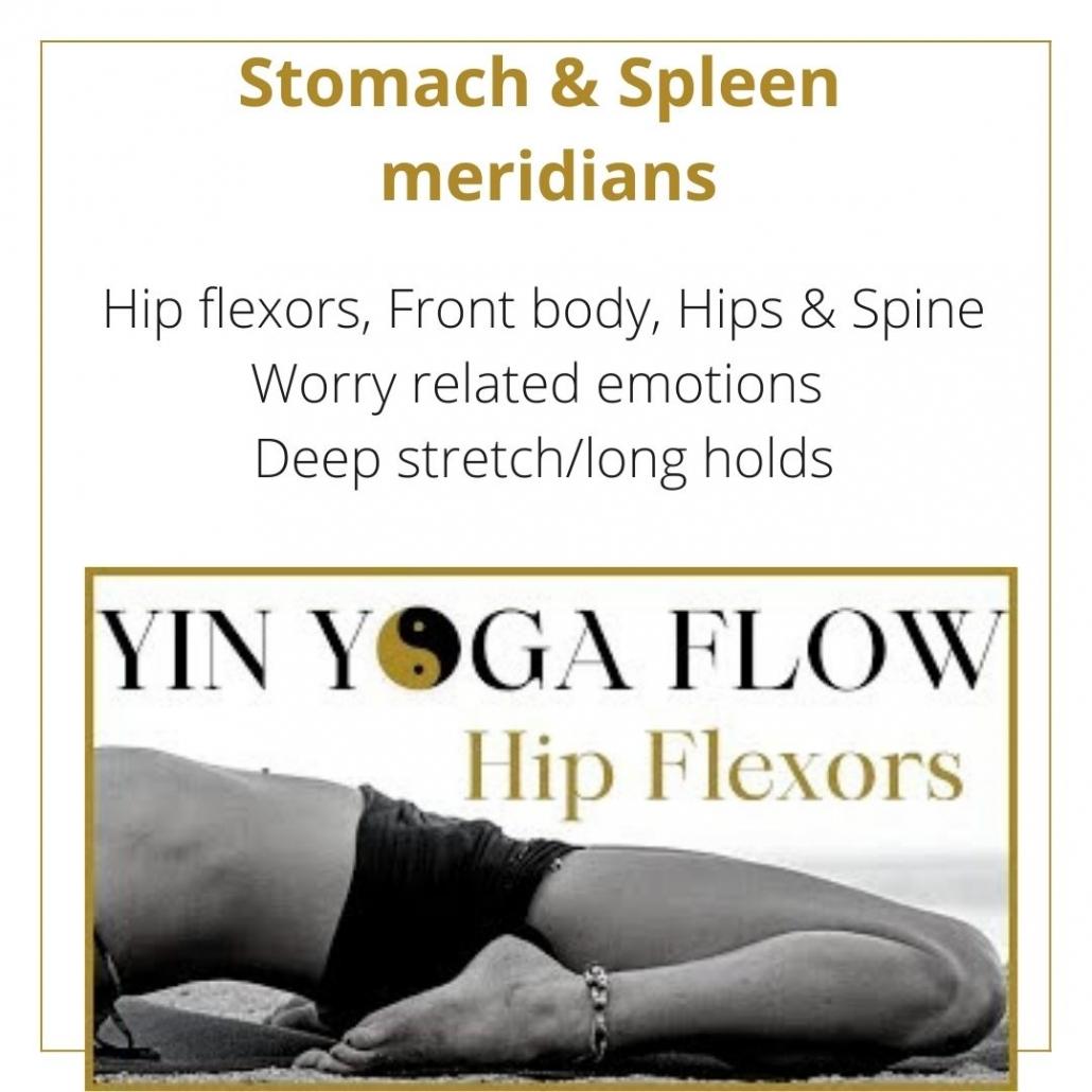 youtube yin yoga class for the Stomach & Spleen meridians