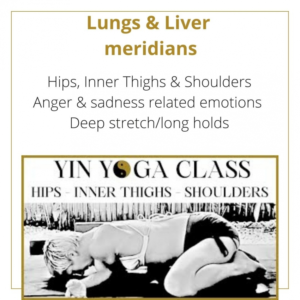 A YIN YOGA SEQUENCE FOR THE Lungs & Liver  meridians