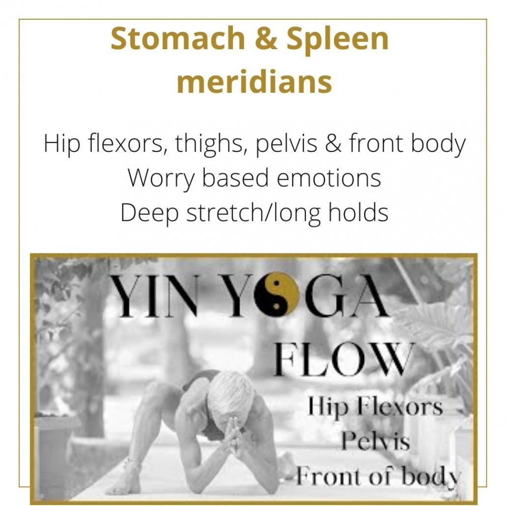 YIN YOGA CLASS FOR THE Stomach & Spleen  meridians