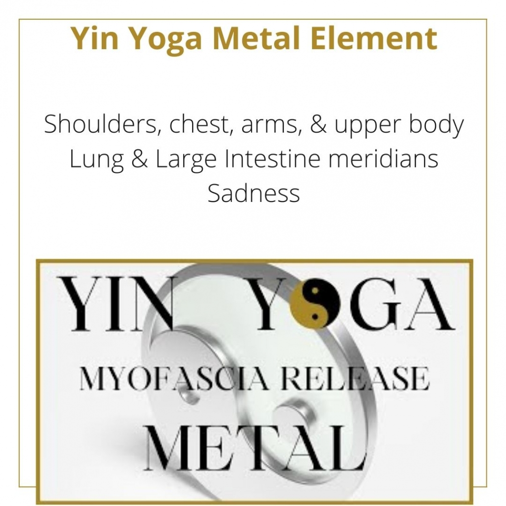 a yin yoga class for the metal element