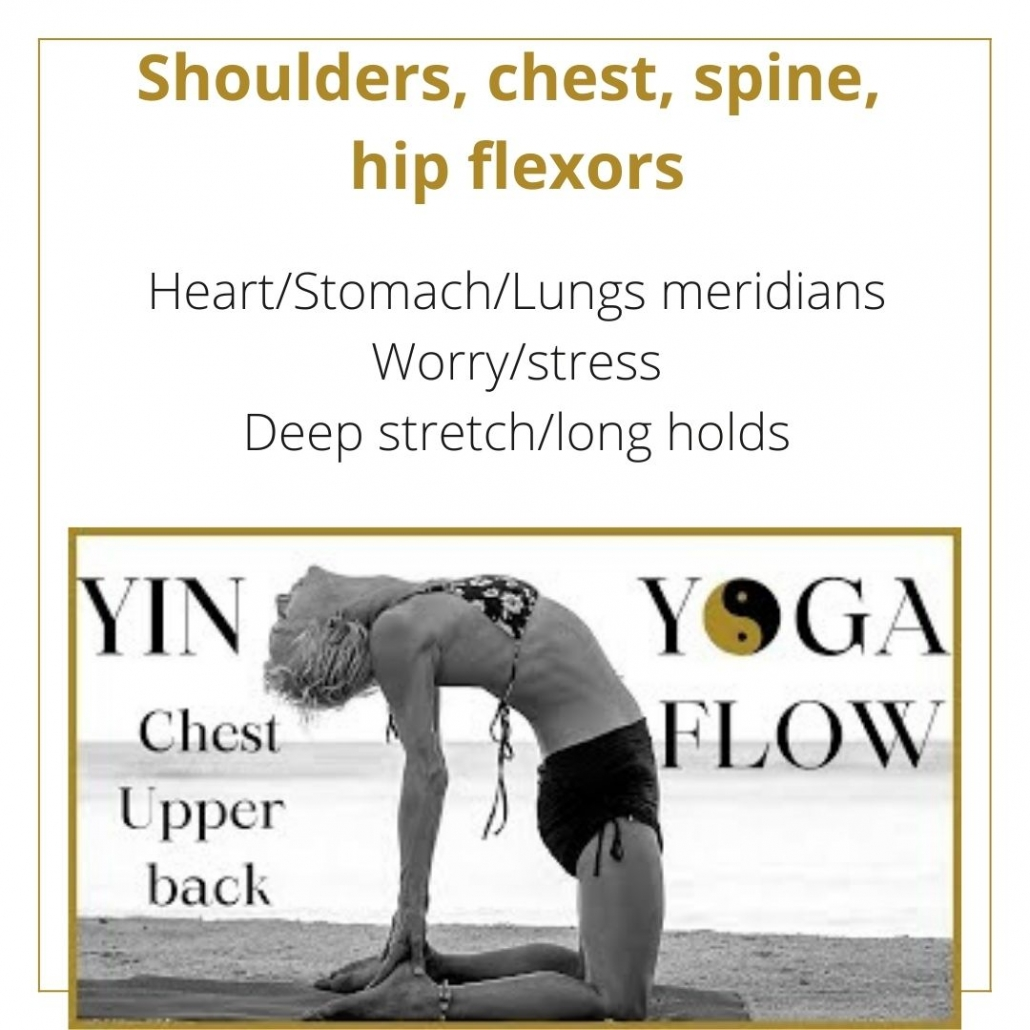 1 hour yin yoga class for tight shoulders
